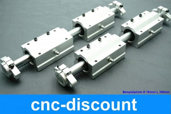 """CNC Set Blau Flansch """"Wagen lang"""""""