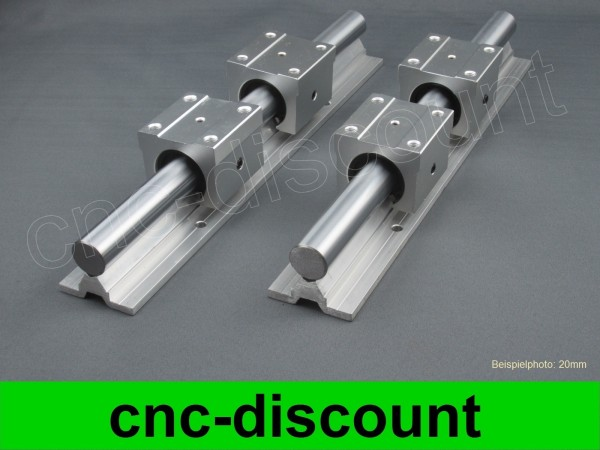 CNC Set 16x 450mm Linearführung Linear Guide Rail Stage 3D