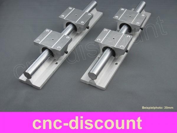 CNC Set 16x 700mm 2x Linearführung 4x Linearwagen Linear Guide Rail 3D Fräse rosa
